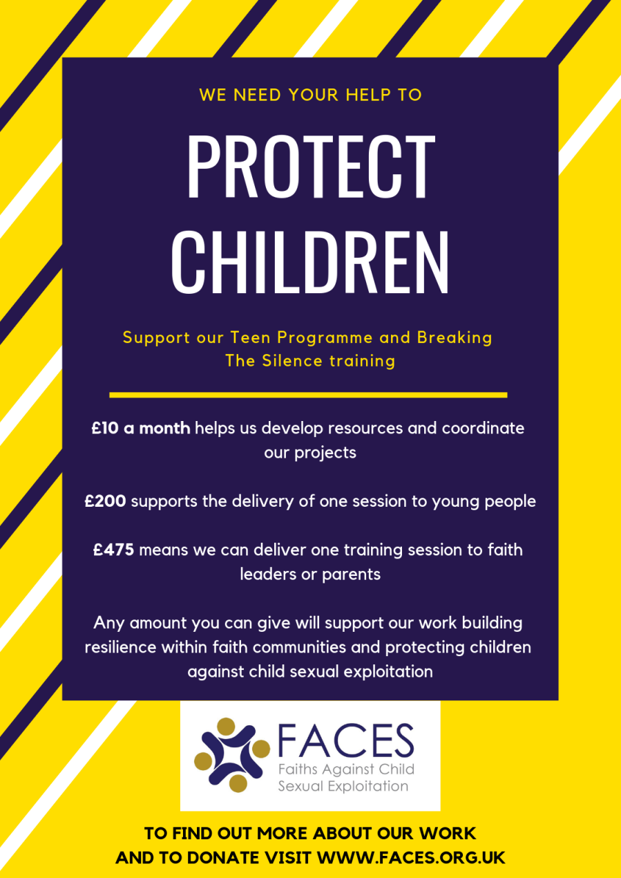 Faces donate poster
